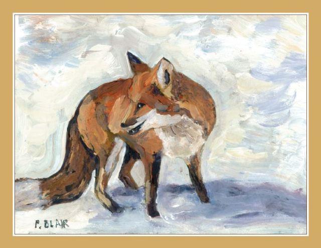 fox christmas card 2014