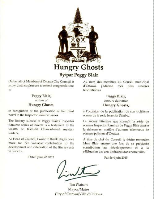 Mayor watson certificate
