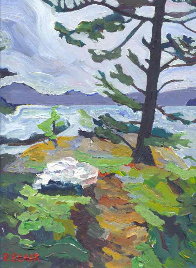painting of buck lake